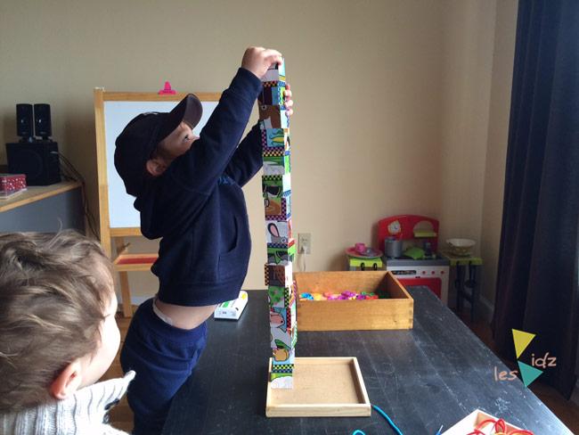 Les Kidz construction tower